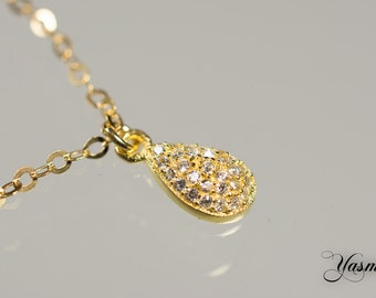 Drops with sparkly gold-plated silver