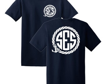 Anchor Rope Monogrammed T-shirt