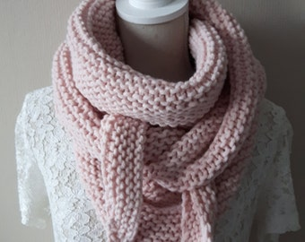 Supersoft shawl, rose