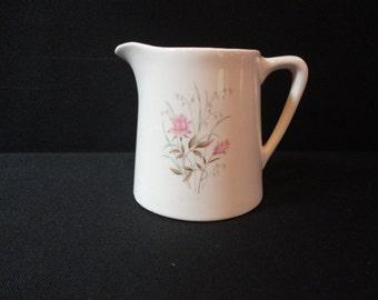 Vintage Salem China 3 Cup 24 Oz. Pitcher Roses Leaves