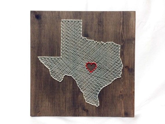texas string art states decor texas wall art home decor. Black Bedroom Furniture Sets. Home Design Ideas