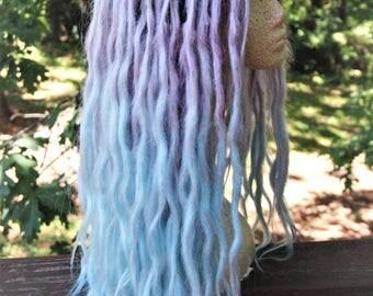Lavender & Blue Pastel Ombre Lace Front Dreadlock Wig * Synthetic Dreads * Purple Dreadlocks * Pastel Goth * Afropunk * Nu Goth * Sea Witch