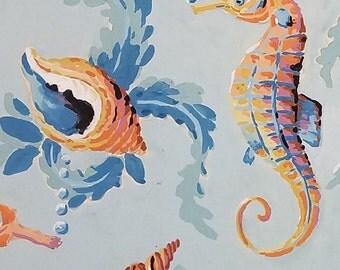 Original A. Sirooni Gouache Textile Design
