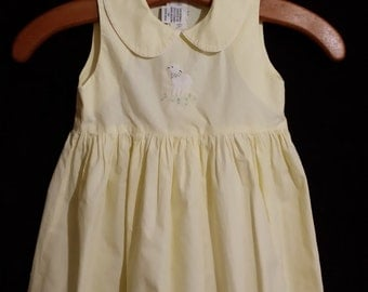 Simply the cutest little girl yellow, marry had a little lamb dress of quality, size 2T