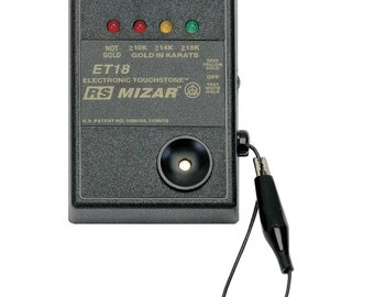 ET-18 Mizar Gold Tester Battery Operated Electronic Gold Karat Purity Value 10K 14K 18K Tester - TES-174.00