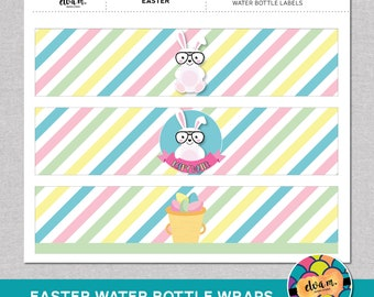 Easter Bunny Water Bottle Labels. Easter water bottle wraps. *INSTANT DOWNLOAD*