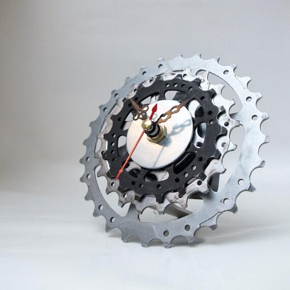 Bicycle Clock - Bicycle Clock - Unique Bike Clock - Industrial Decor - Decorative Clock - Contemporary Clock - Boyfriend Gift - Husband Gift