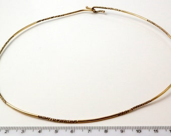 Vintage C1970s 9ct Yellow Gold Torque Necklace