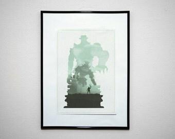 Colossi. Minimalist Video Game Poster Print.