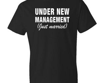 Just Married Shirts Wedding Gifts Husband Gift Under New Management, Newly Wed Shirt New Husband Shirt for Husband, Groom Shirt #OS63
