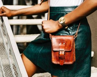 Fiorella Handcrafted Leather Satchel