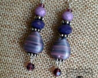 Lovely Monotone Purple Earrings