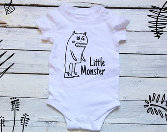 Little Monster Onesie 1st Birthday baby boy Daddy's Little Monster Shirt Baby Halloween Onesie Little Monster shirt Baby Halloween Costume