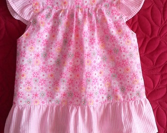 Nice flowery pink dress baby girl 3 months