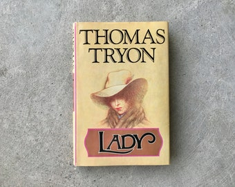 Vintage   1974 Lady by Thomas Tryon   First Edition   Hardcover   Dust Jacket   Perfect Vintage Condition