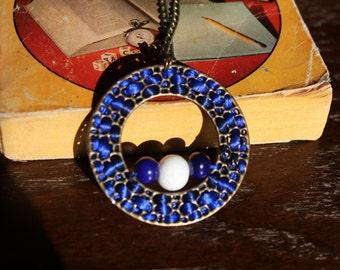 "Necklace Royal Blue 30"""
