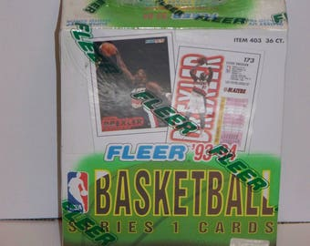 1993-94 Fleer Basketball Series I Sealed Box