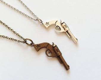 GUN Necklace Gun Jewelry Gun Gift Weapon Necklace Weapon Jewelry Weapon Gift Police Necklace Police Gift Cowboy Gun Necklace Cowboy Gun Gift