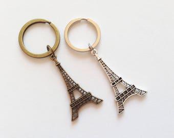 EIFFEL TOWER Keychain Eiffel Tower Keyring Eiffel Tower Gift Paris Keychain France Keychain Paris Gift France Gift Eiffel Tower Charm Gift