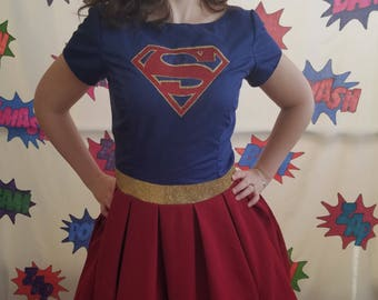Supergirl Size 10 Superhero Costume Dress