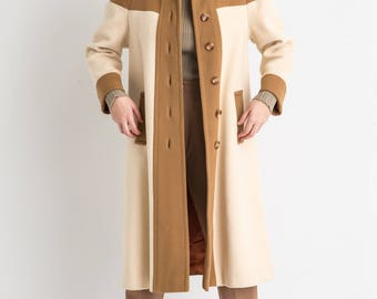60s MOD Two Tone Cashmere Coat
