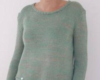Sweater light green natural trend