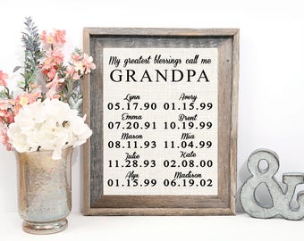 My greatest blessings call me Grandpa, Father's Day Gift for Papa, Grandpa, Dad, Daddy