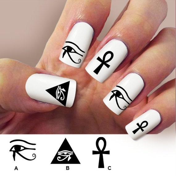 Q Riouser Q Riouser Nail Art: Items Similar To Eye Of Horus, Egyptian Nail Art , Nail
