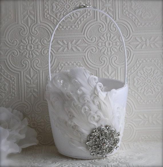 Flower Girl Baskets Canada : Flower girl basket wedding decoration