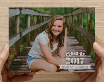 Class of Photo Card Graduation Announcement