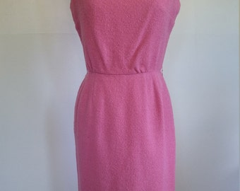 Pink Wiggle Dress with Silk Train