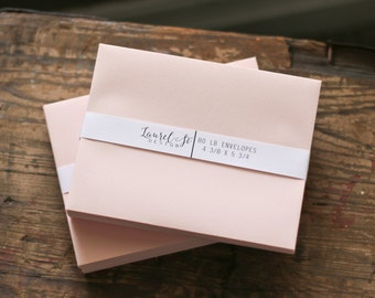 """BLUSH A2  Envelopes  (pink/peach) ~ Invitation Envelope ~ A2 = 4 3/8"""" x 5 3/4"""" ~ qty 25"""