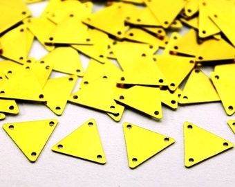 50 pcs 12x14 mm Raw Brass Triangle Charms
