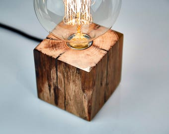 Wooden Table Lamp With Epoxy Resin, Wooden Lamp, Epoxy Resin, Wooden Table  Lamp