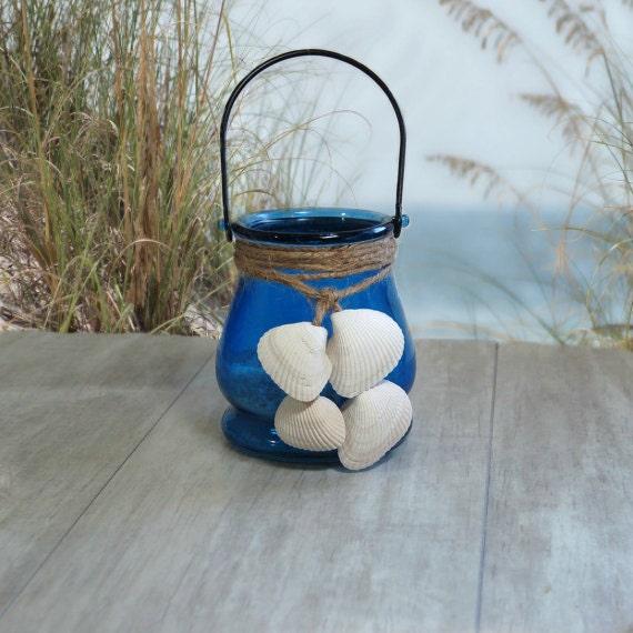 Items similar to beach candle lantern beachy d cor beach for Beachy decor items