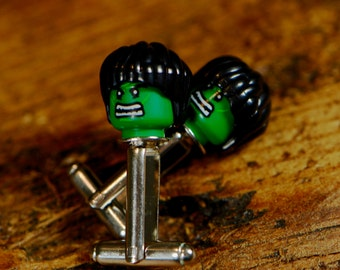 Gift For Boyfriend - The Hulk Cufflinks - Superhero Cufflinks - Birthday Gift Idea - Movie Cufflinks - Gift For Him