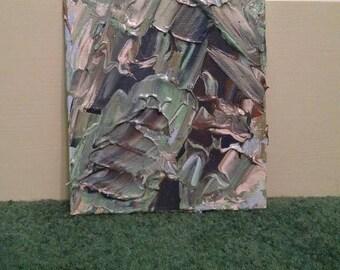 "Original Abstract Acrylic Painting on Canvas Panel, ""Seafoam"""