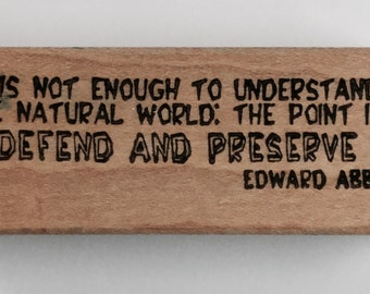 Natural World Environment Edward Abbey Rubber Stamp Used