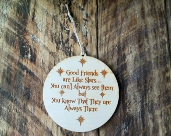 Ornament, Christmas Ornament, Friend Gift, Stocking Stuffer, Gift tag, Friendship Ornament, Personalized, Friendship Gift