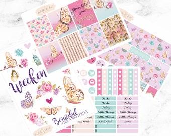 Happy Planner Flutter By Butterfly Weekly Sticker Kit