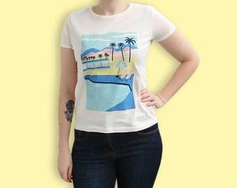 T-shirt estival 90s - T-shirt Neon Pastel Colorblock - T-shirt Vaporwave Paysage Vacances - T-shirt Pastel Tropical - T-shirt Pastel Grunge