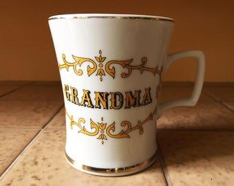 Mug Coffee Mug Tea Cup Grandmother Gift for Grandmother Grandma Gift Grandma to Be Ceramic Mug Large Mug Pottery Mug Vintage Kitchen