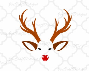 Christmas Reindeer SVG,Eps Png Dxf,digital download files Silhouette  and Cricut DS, vector Clip Art graphics Vinyl Cutting Machines