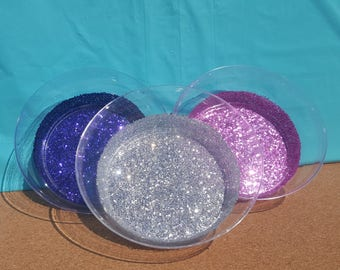 Glitter Plastic Party Bowls, Party Bowls, (Your Choice of Color), Pink Plastic Bowls, Glitter Bowls, Turquoise Plastic Bowls, Plastic Bowls