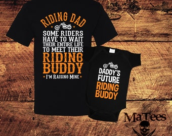 Father Son Matching Shirt, Motorcycle, Motorcycle Gift, Motorcross,Motorcycle Shirt, New Dad Gifts, Dad Baby Matching Shirts, Father's Day