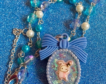 Cute Rabbit Circus Necklace