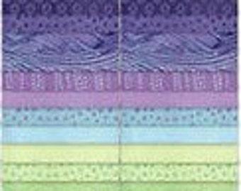 Northcott Artisan Spirit Good Vibrations 2 1/2 in strips - purple, teal, green, turquoise SVIBRA-84