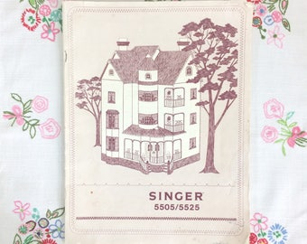 Vintage Singer 5505/5525 Sewing Machine Manual. Original 1980 Singer Instruction Manual in English, French and Italian