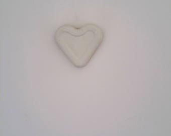 Concrete heart, hanging heart, wall decor, white heart, Industrial, Decoration, wedding favour, anniversary gift