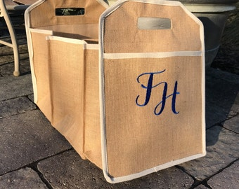 Burlap Car Storage Organizer